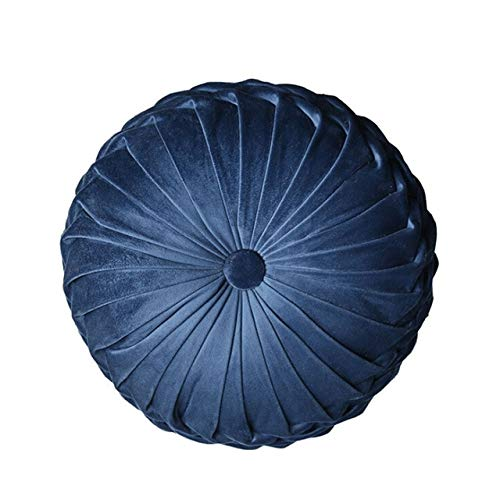 cfyq Fashion Super Deluxe Velvet Pillow Pad Rundes handgefertigtes Plisseeradkissen, A1,38x11cm