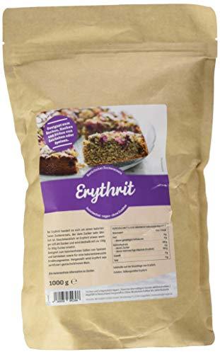 Erythrit ohne Kalorien 1kg natürliches Erythritol Kalorienfrei, verwendbar als kalorienfreier Zuckerersatz, bekannt aus Supermarkt und Drogerie (1 kg)