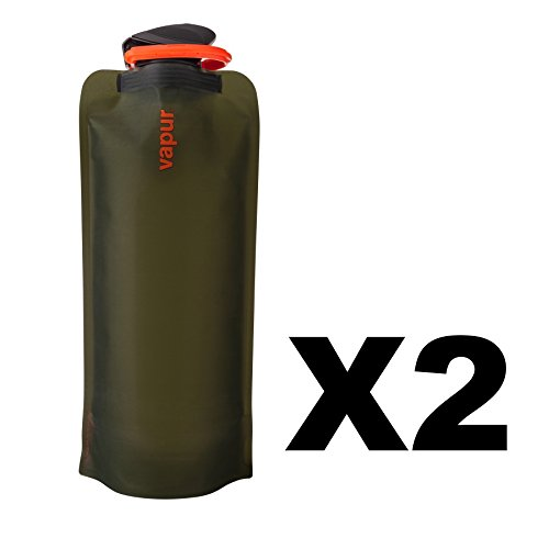 vapur-eclipse-1-liter-matte-olive-green-flexible-water-bottle-flask-34oz-2-pack