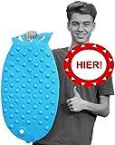 Taro Hochwertige Antirutsch Badewannenmatte (Set) - sicher haftende Badematte aus Naturkautschuk, zusätzlicher Organizer/Fach Ordnung für eine fröhliche Badezeit, Badewannenzubehör