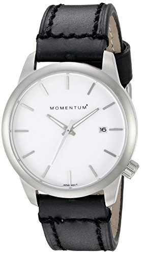 Momentum Women's 1M-SP11W2B LOGIC SS Analog Display Japanese Quartz Black Watch