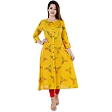 Vaibhav Industries Women's Handloom Cotton A-Line Kurta