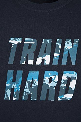 Mountain Warehouse Train Hard Herren-T-Shirt Marineblau