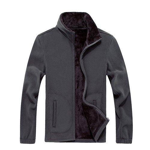 GITVIENAR Herren Fleecejacke Outdoor Jacken Bergsteigen Kleidung warm Winddichte Kleidung großen Bekleidung atmungsaktive warme Kleidung