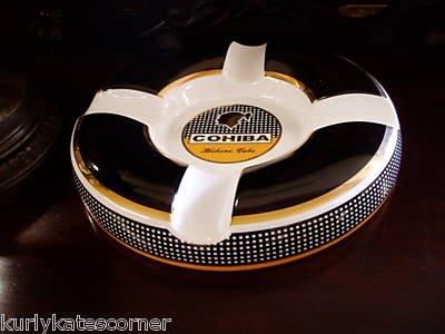 Cohiba Cendrier à cigare réalisé à partir d'authentiques boîtes de Habanos 40e anniversaire - Grand, Rond