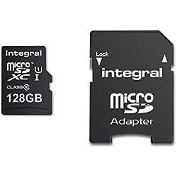 Integral INMSDX128G10-80SPTAB 128GB UHS-I / U1 533x SDXC Memory Card - Black
