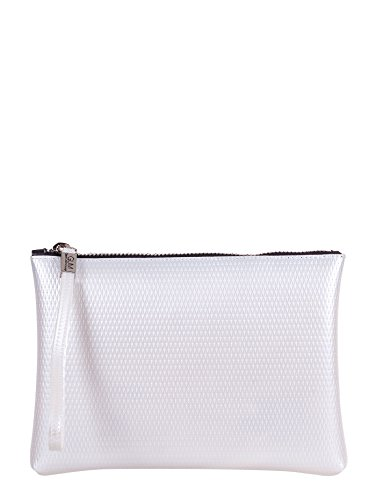 GUM BY GIANNI CHIARINI BORSA POCHETTE A MANO LATTICE BIANCO, 4052.GUM