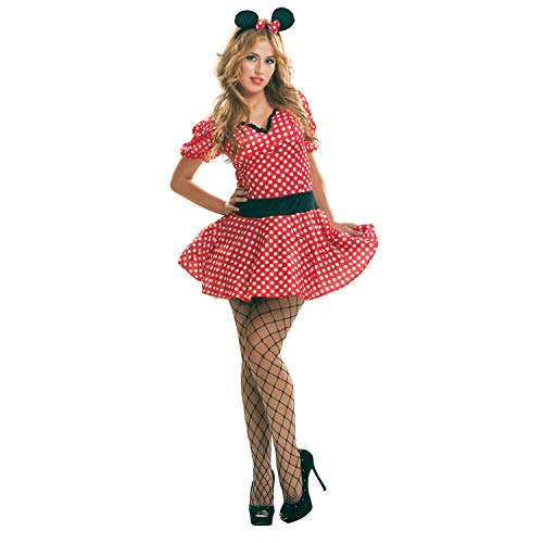 My Other Me - Sexy Maus Kostüm, für Damen, Größe S, rot (viving Costumes mom02609) (Minnie Mouse Adult Kostüm)
