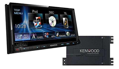 Kenwood Radio DDX7015BT + Navigation 2DIN Bluetooth mit Einbauset für Honda Civic Type R (FN2) 2007-2010 (Honda Civic 2007-navigation)