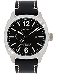 Gigandet G16–004–Uhr für Männer, Lederband schwarz