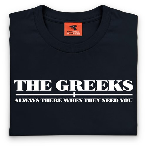 Square Mile Greeks T-Shirt, Herren Schwarz