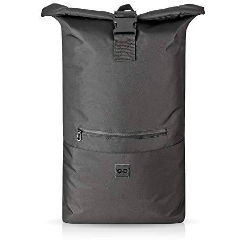 a6ee4092d7176 URBAN ZWEIRAD Roll-Top Rucksack 35l - Lifestyle Rucksack für den Alltag -  Wasserabweisend   sehr individuell packbar - Damen   Herren (Sch..