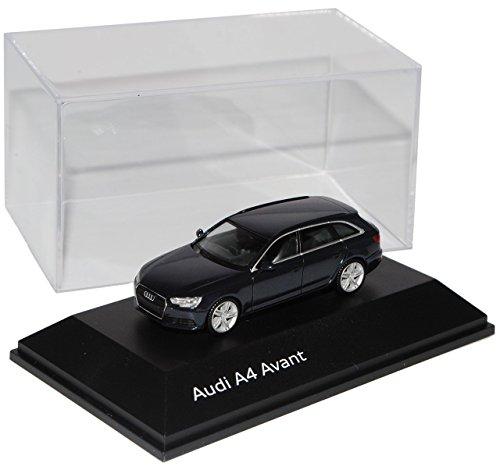 Preisvergleich Produktbild Audi A4 B9 Avant Kombi Mondschein Blau Schwarz Ab 2015 H0 1/87 Herpa Modell Auto mit individiuellem Wunschkennzeichen