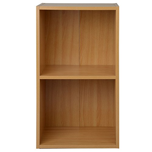 Fresh 1 2 3 4 Tier Beech or Light Oak Wooden Bookcase Shelving Display  GV51