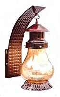 """Amazing lantern wall lamp by """"bright lite solutions"""" is a useful addition to your home decor arsenal. Crafted from glass and iron material, it is long-lasting and energy efficient wall lamp."""