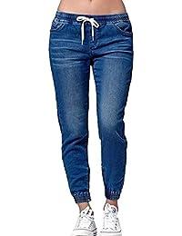 Yying Mittlere Taille Jeanshose für Damen Frauen Skinny Stretch Slim Fit Freizeithose Mode Mittlere Taille Denim Hose Lange Jeans Große Größen Freizeithosen Leggings