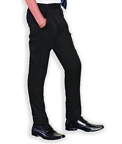 INTEGRITI Mens Black Formal Business Smart Office Trousers Slim Fit Skinny Leg Pants 28