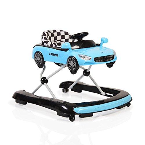 Lauflernhilfe Cabrio 2 in1 Auto-Design höhenverstellbar Armaturenbrett mit Licht blau