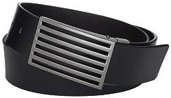 Calvin Klein Mens 40mm Reversible Belt, Black/Brown, 40