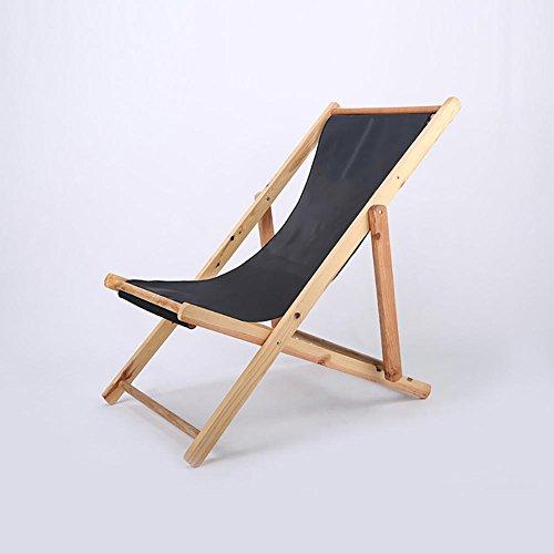 KSUNGB Chaise de Plage Chaise Pliante Bois Massif Toile inclinable Bureau Chaise Longue Balcon Chaise Longue de Loisirs
