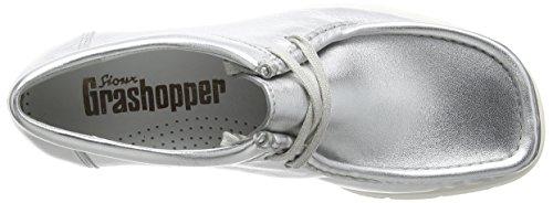 Sioux - Grashopper-d-141 Macas, Mocassini Donna Argento (Silber (silber))