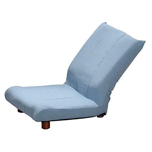 SJZLMB Liege Wohnzimmer Lazy Couch Faltbare Mittagspause Stuhl Home Balkonliege Bodenstehender Stuhl Stuhl Rückenlehne Einzelsofa Lesesessel Blau-3 Verstellbar