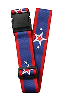 Orb Travel Premium Designer Luggage Strap Suitcase Strap Luggage Strap/Packing Tape 2 m x 5 cm Blue/Red/White Stars & Stripes