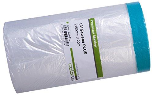 6 x Colorus Masker Tape PLUS UV Gewebe 210 cm x 20m Cover Quick Abdeckfolie Maskerband in Spitzenqualität, für raue Untergründe