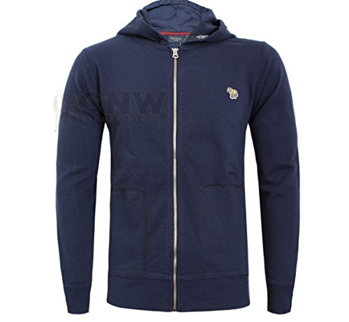 Paul Smith MEN'S HOODY, SWEATSHIRT BLACK, CHARCOAL, GREY, NAVY ZEBRA LOGO S,M,L,XL,XXL ORGANIC COTTON