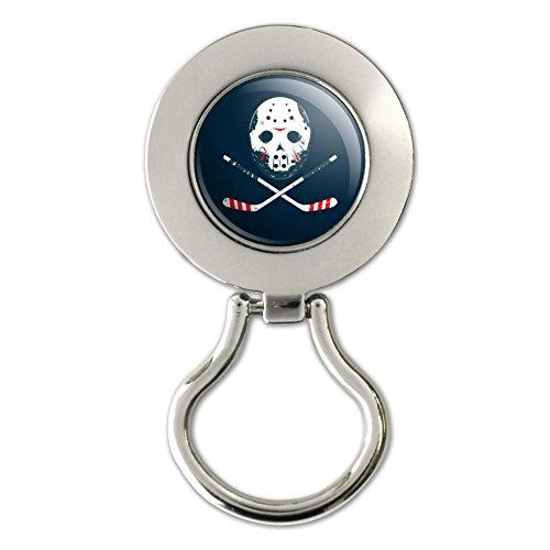 Hockey Maske Totenkopf Stick magnetisch Metall Schlüsselanhängerform ID Badge Holder
