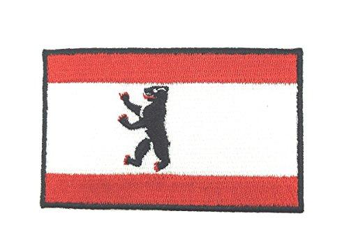 Parche Bordado Termoadhesivo Bandera Berlin Oso 7