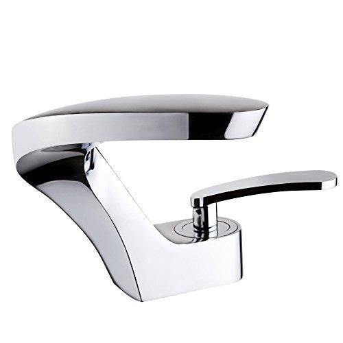 POP Bad Wasserhahn Badarmatur Waschtischarmatur Waschbeckenarmatur Waschbecken Badezimmer Chrom (Chrom Pop)