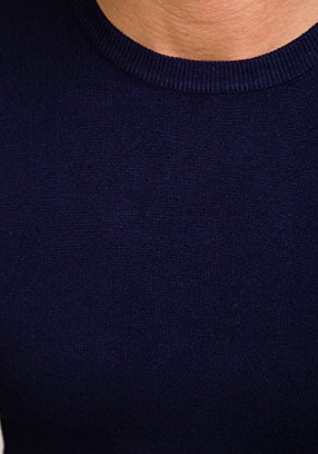 BOLF Herrenpullover Pulli Sweatshirt Sweatjacke Sweater Top MIX Dunkelblau_6001