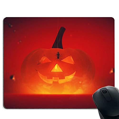 Halloween-Kürbis-Mauspad, rutschfeste Gummibasis und genähter Rand mit Gaming-Mauspad
