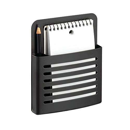 InterDesign Forma Magnetic Memo Center, Organizer for Kitchen, Locker, for Office, Matte Black-Set of 1 Memo Center