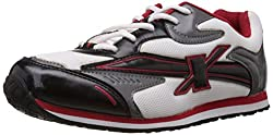 Sparx Womens Black and Red Mesh Running Shoes - 4 UK (SX0060L)