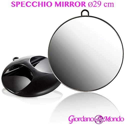 Specchio portatile per parrucchiere barbiere retrovisore professionale Ø 29 cm