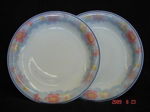 Import Von Mode-accessoires (Feng Shui Import weiß Teller mit Rot und Blau Blume Bild)