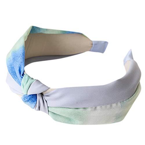 Lomsarsh Frauen Tinte und waschen Stirnbänder, Mode Bogen Knoten breite Seite Stirnband für Frauen Stirnband Stoff Haarband Kopf Wickeln Haarband Kopf Hoop Zubehör -