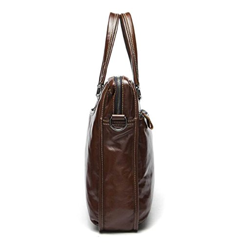 Man Aktenkoffer Casual Large Capacity Messenger Bag Männliche Leder Handtasche Männliche Tasche A