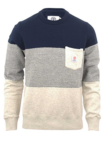 Franklin-Marshall-Fleece-Sweater-Round-Neck-Navy
