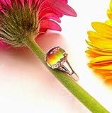 Anillo de ánimo de plata esterlina, anillo de humor ovalado de plata, anillo de cambio de color, anillo de cambio de color, anillo de humor para niños