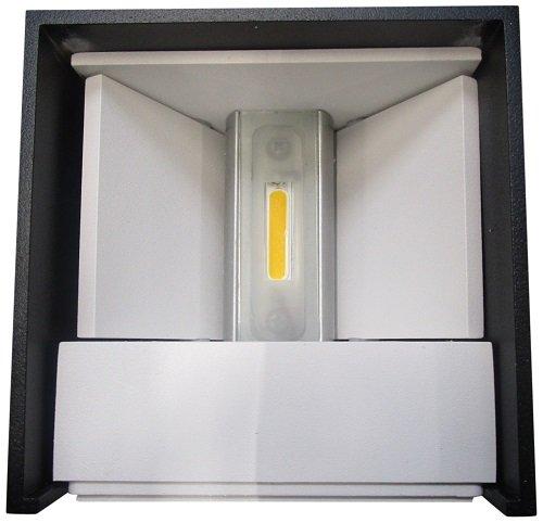 Helestra LED Wandleuchte / IP54 / anthrazit / 3000 K/H: 10 cm, B: 15 cm, Ausladung 12.5 cm, warmweiß A28242.93