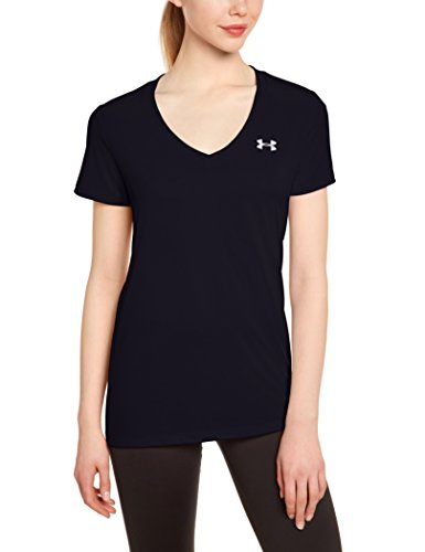 under-armour-womens-tech-v-neck-solid-short-sleeve-shirt-black-small