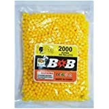 Home Delivered 6 MM Plastic BB Bullets For Toy Guns & Air Gun | 1500 Pcs | Yellow Colour