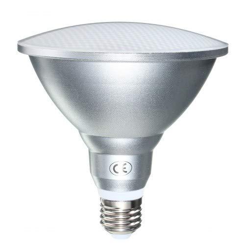 JQslight 15W PAR38 LED E27 Proiettore Lampadina IP65 Impermeabile Esterno Bianco Calda 3000K 240V ES Edison Vite Base Riflettore esterno Lampadina di ricambio 130 W alogena (1 confezione)