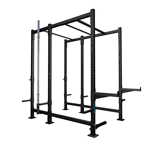 CAPITAL SPORTS Dominate Edition Set 12 Basis-Rack Power-Rack Trainings-Box mit Klimmzugstangen, 2x Safety-Spotter, 1x T-Bar Row Trainer (1x Paar J-Cups, Gewichtsscheiben-Halterungen, Hantelhalterung)