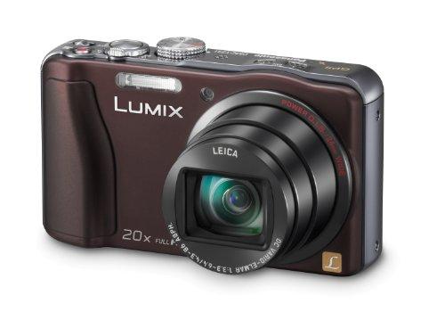 Panasonic DMC-TZ31EG-T Digitalkamera (14,1 Megapixel, 20-fach opt. Zoom, 7,5 cm (3 Zoll) Display, bildstabilisiert) chocolate Panasonic Super-zoom-kamera