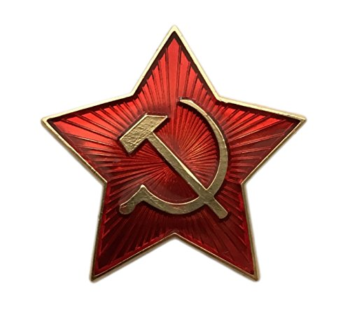 f302bd7eca5cd Ganwear® Soviet USSR Russian Army Military Small RED Star Ushanka Hat Cap  Beret Pin Badge