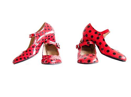 La Senorita Chaussures flamenco espagnol de danse - Rouge noir